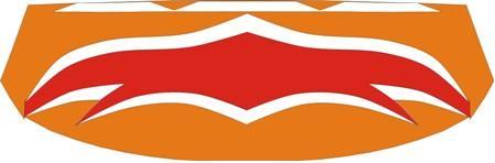 orange-white-red